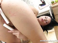 Orgasm is in store for a brunette czech babe