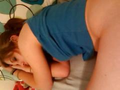 Sleeping girl ravaged by boyfriend 2