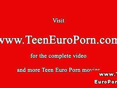 Euro teen has tender anal sex