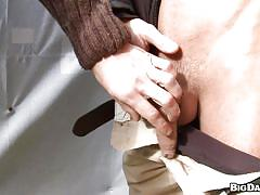 Cock sucked in a public space