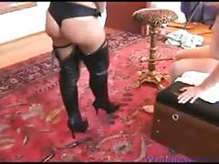 Hard strapon sex at lisa berlin's hard sex studio