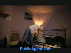 Public agent fucks blonde slut dominica