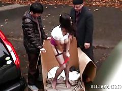 Nachi kurosawa fucks two guys in the street