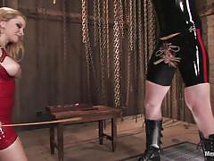 Mistress plays rough with her slave's dick