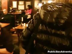 Czech hottie nailed in a public place