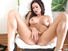 masturbation, big tits, brunette, solo, toys, milf, hd, big boobs, black hair, fake tits, masturbating, mom, naked, silicone tits, vibrator
