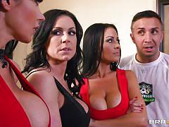 foursome, blowjob, big boobs, pussy licking, big dick, titjob, reverse cowgirl, hot milfs, mommy got boobs, brazzers network, vanilla deville, eva karera, keiran lee, kendra lust