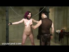 Submissive redhead babe in awesome bdsm sex