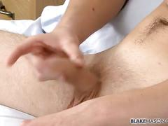Hung bottom jake zhang wanks out solo