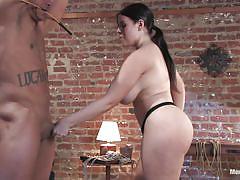 milf, big ass, spanking, whipping, strap on, big boobs, anal sex, bent over, black hair, rope bondage, men in pain, kink men, daphne rosen, lobo
