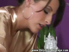 Lesbian masseuse has her pussy sucked by her client