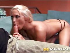Nasty blonde gets her sweet pussy banged hard