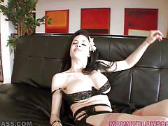 milf, handjob, big cock, deepthroat, blowjob, big boobs, black hair, pov, mommy blows best, myxxxpass, veronica avluv, johnny fender