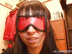 Yuuki itano is blindfolded and pleasured