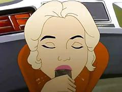 blonde, babe, interracial, blowjob, cartoon, black cock, sealab, drawn hentai