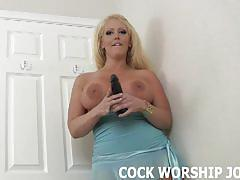 Worship his huge black cock for me joi