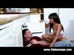 Horny housewife fucks repair guy