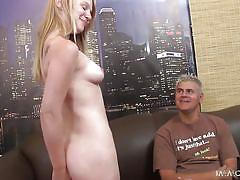 Horny blonde girl gets her pussy eaten