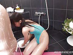 bathroom, japanese, rimjob, black hairy, ball licking, foam, soap massage, jp shavers, all japanese pass, yuuki itano
