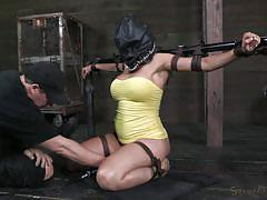 Tied up and deepthroated by a bbc
