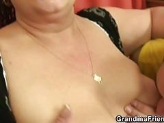Pov 3some with busty mature bitch