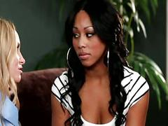 Interracial lesbian love