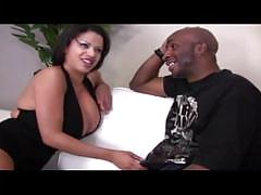 Busty ebony with nice ass gets hardcore fucked