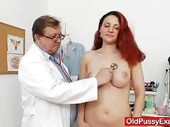 Fuckable beatrix gets more than a lady gyno at the clinic
