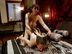 Mz berlin and her big bad dildo