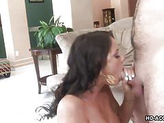 Lustful mom wants cock in her throat