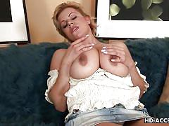 blonde, mature, big cock, blowjob, short hair, titfuck, big breasts, matures hd