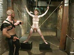 bondage, leather, twink, rope, gay blowjob, hunk, gay dominaton, sex dungeon, bound gods, kink men, adam herst, seamus o'reilly