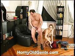 Horny louisa hides to surprise daddy hubert