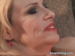 Incredible blonde milf with big boobs