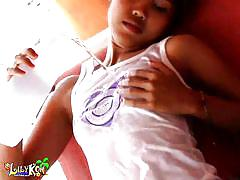Sweet lily koh relaxes on a sunny afternoon