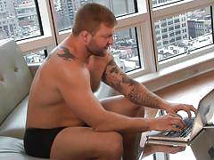 Horny gay having fun with a guy