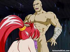 Redhead milf sucks a dick