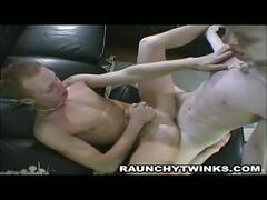 Blonde twinks explosive cum shower