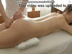 Hippie girl hot squirt during massage