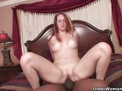 Mom gets stuffed with big black cock