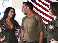 milf, threesome, big tits, uniform, blowjob, military, brunette, army, ffm, big tits in uniform, brazzers network, chanel preston, kirsten price, keiran lee