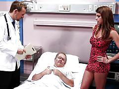 big tits, hospital, doctor, blowjob, big boobs, pussy licking, brunette, moaning, undresing, wicked pictures, brooklyn chase