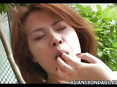 Japanese lesbian tied up and exploited
