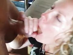 Pierced dick cum in mouth