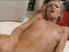 Petite blonde gets her tight pussy screwed hard.