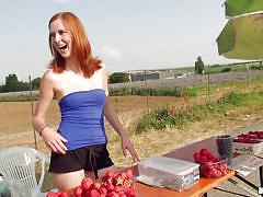 I pick up a redhead at the fruit stand