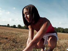 babe, outdoor, amateur, blowjob, brunette, pov, pussy fingering, round booty, latina sex tapes, mofos network, jazmine beach