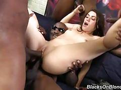 Tiffany doll double penetrated by big black cocks