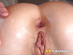 Sexy babe loves anal sex.