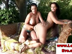 Lesbo babes eve angel and aria giovanni